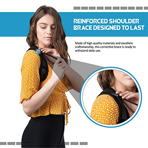 Comfortable Posture Corrector for Women or Men by Atlas | The Best Posture Brace for Women and Men | Easy to Wear | One Size Fits Most - Up to 50'' Chest | Carry Bag Included | Designed in USA by Atlas Industries (Image #3)