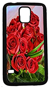 Blueberry Design Galaxy S5 phone Case Red Bouquet Roses Flowers Design