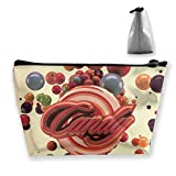 Trapezoid Toiletry Pouch Portable Travel Bag Candy Balls Zipper Wallet