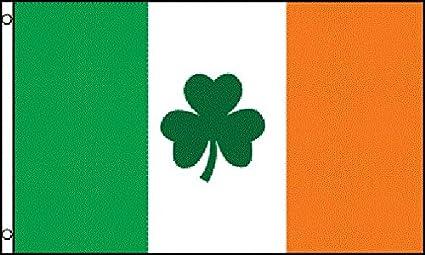 AZ FLAG Bandera de Irlanda con TRÉBOL 150x90cm - Bandera Irlandesa 90 x 150 cm