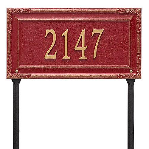"Custom Grande Garden Gate LAWN Address Plaque 18""W x 10""H (1 Line) by Whitehall"