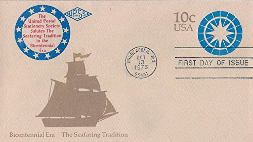First Day Cover 1975 Bicentennial Era The Seafaring Tradition Postal Stationery Sc# U571