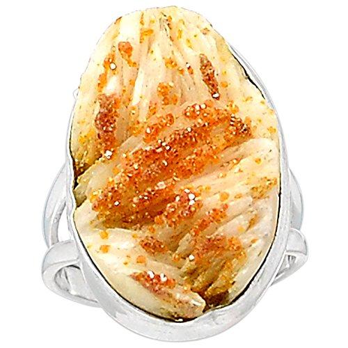 LoveGem Genuine Vanadinite Crystal Ring 925 Sterling Silver,Size : 5.75, ()