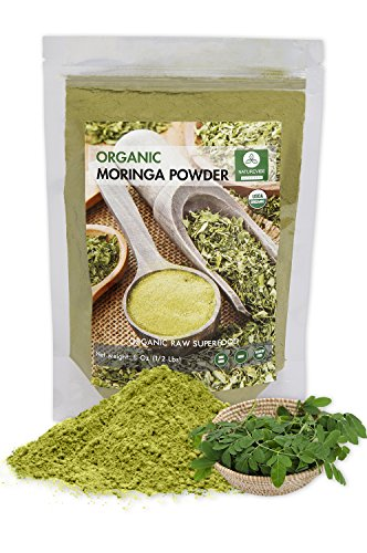 Moringa Green Leaf Powder (1/2 Pound), Organic Raw-Gluten-Free & Non-GMO