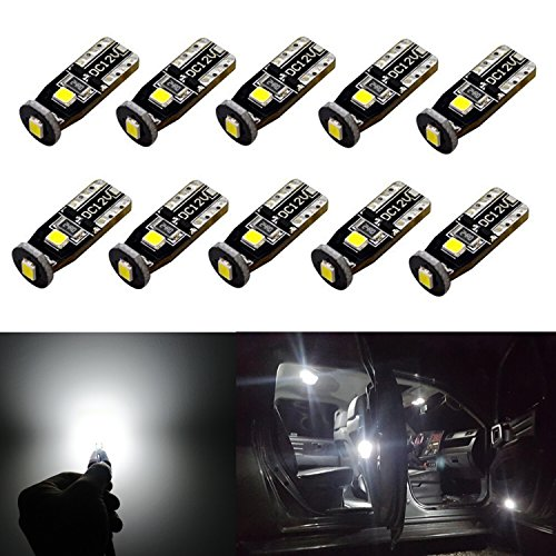 JDM ASTAR 10pcs Super Bright 194 168 175 2825 T10 PX Chipsets LED Bulbs,Xenon White (Best Value on the market) by...