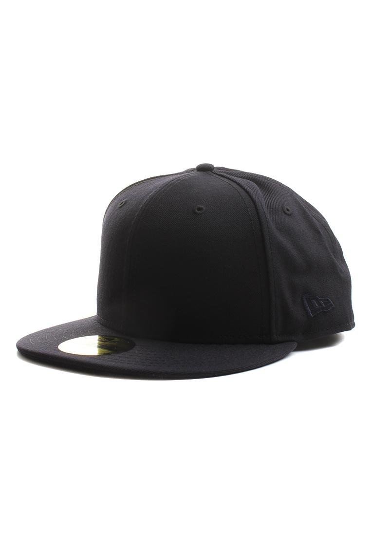 3d1a5027 New Era Plain Tonal 59Fifty Fitted Hat (Dark Navy Blue) Men's Blank Cap