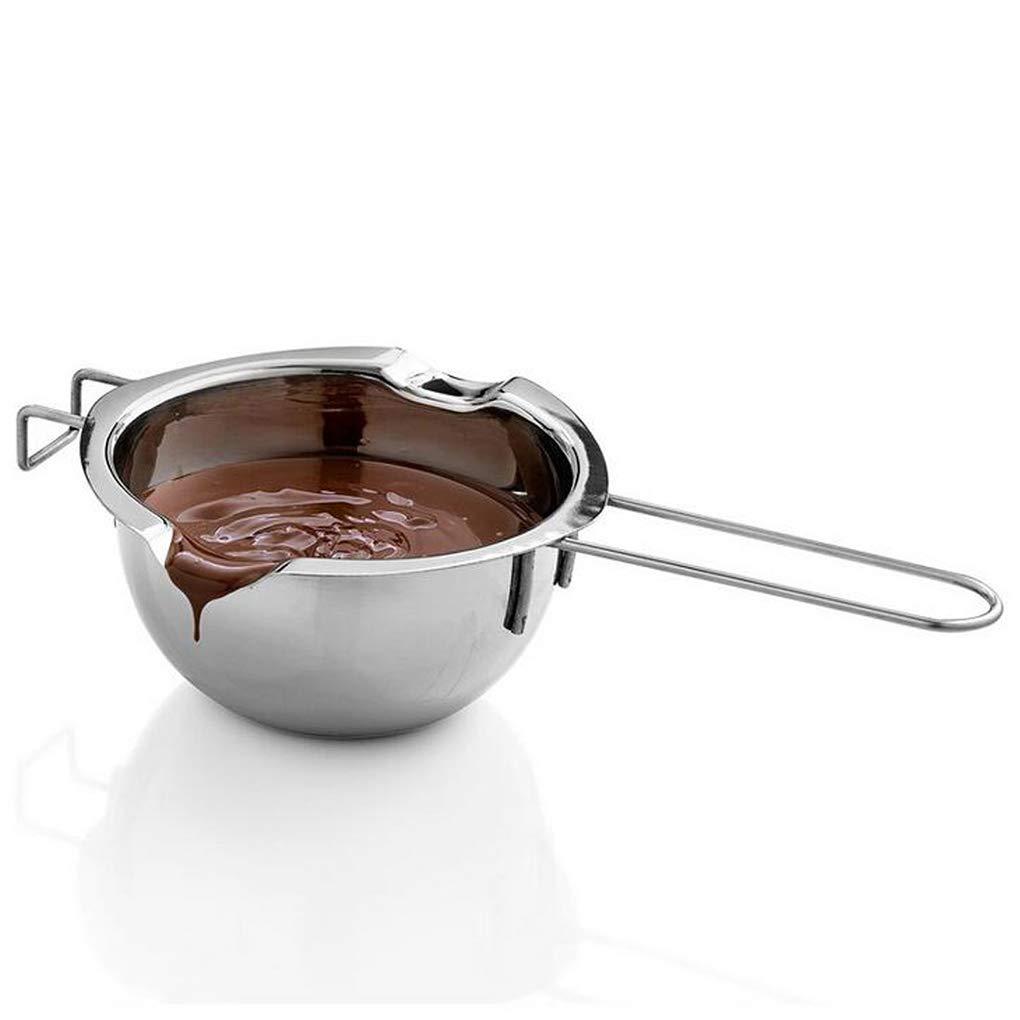 Lorsoul Miroir comme Beurre au Chocolat en Acier Inoxydable Melting Pot Pan Cuisine Lait Bowl Accessoires de Cuisine Chaudière