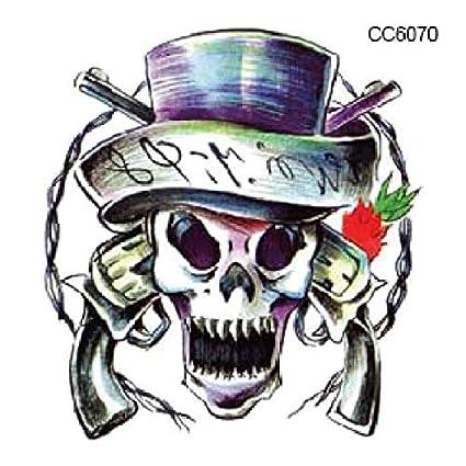 AZXPLM Etiqueta Engomada Del Tatuaje Pirata Horrible Diseñador De ...