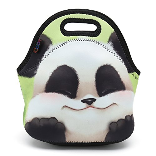 ys Girls Insulated Neoprene Lunch Bag Tote Handbag Lunchbox Food Container Gourmet Tote Cooler Warm Pouch for School Work Office ()