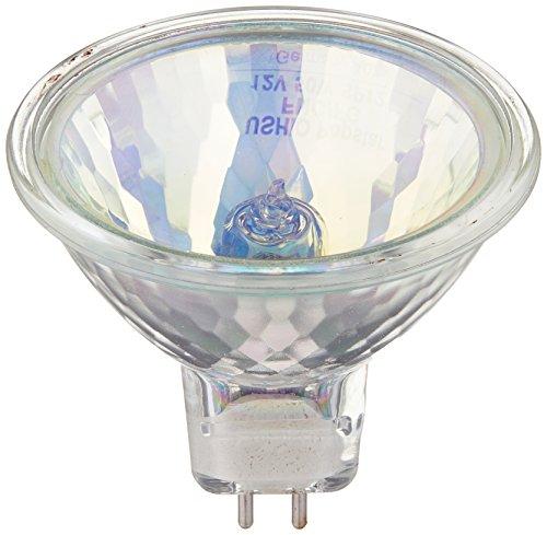 Ushio BC2367 1000580 - FNC/FG JR12V-50W/SP12/FG/Yellow - 50W Yellow MR16 Light Bulb, 12V, 12 Degree Spot