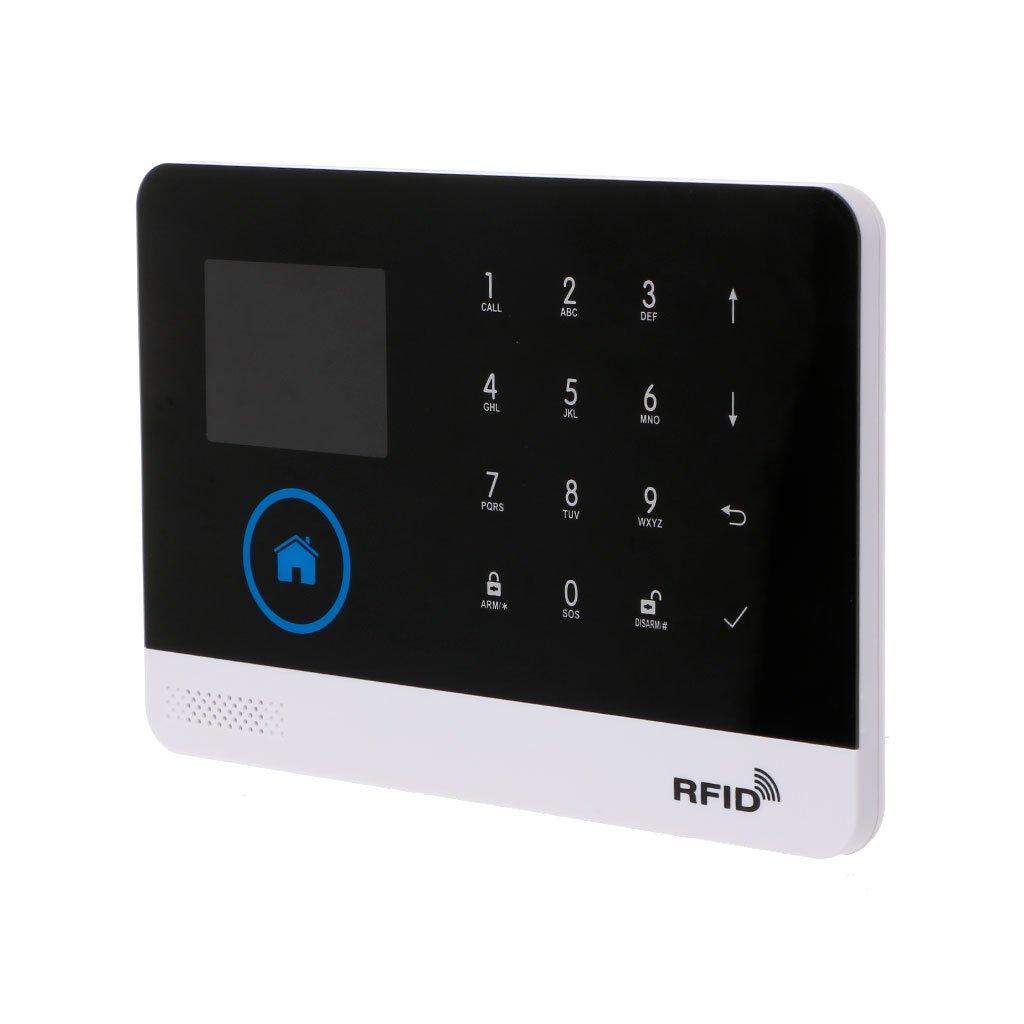 Manyo Sistema de Alarma inalámbrico WiFi gsm 3 G GPRS, Mando a Distancia App, Tarjeta RFID, Kit de Seguridad de electrodoméstico