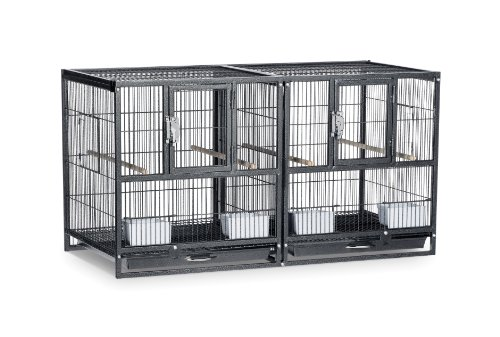 Prevue Pet Products F075 Hampton Deluxe Divided Breeder Cage - Deluxe Birdcage