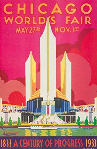 Chicago World's Fair (artist: Pursell) USA c. 1933 - Vintage Poster (9x12 Art Print, Wall Decor Travel Poster)