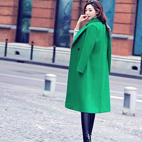 BoBoLily Mince Longues Classiques Trench Vent Coupe Casual Style Grn Manteau Spcial Automne Coat lgant Loisir Chaud Jacket Femme Parka r7pZqr