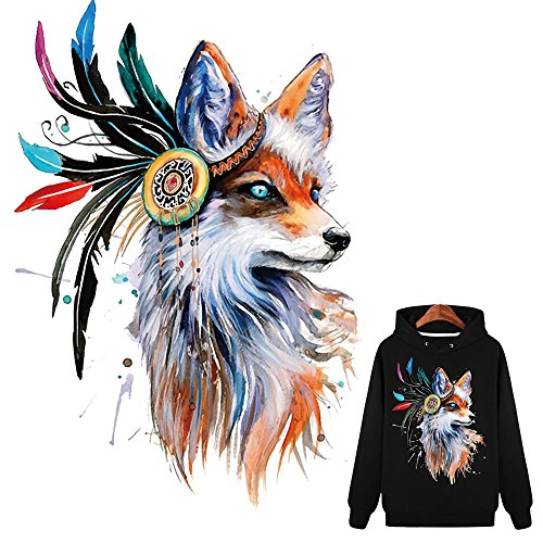 Artem Colorful Fox Iron-on Patches for Clothes Heat Transfer for T-Shirt Jeans Coats Stickers Patch Clothing