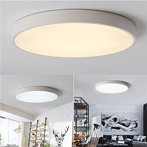 HTAIYN 12W 18W 24W warme kalte weiße LED-Deckenleuchte-Befestigung für Hauptschlafzimmer Wohnzimmer popular (Farbe   Light Cool Weiß 24W)