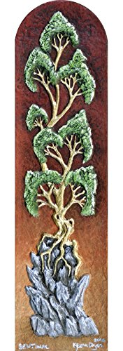 Highland Painted Green (Sentinel - Cast Paper - Tree on Rocks - highlands - wall art)