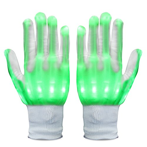 Vbiger LED Gloves Knit Gloves Party Light Show Gloves For Clubbing, Rave, Birthday, EDM, Disco, Christmas, Halloween And Dubstep (Halloween Party Designs)