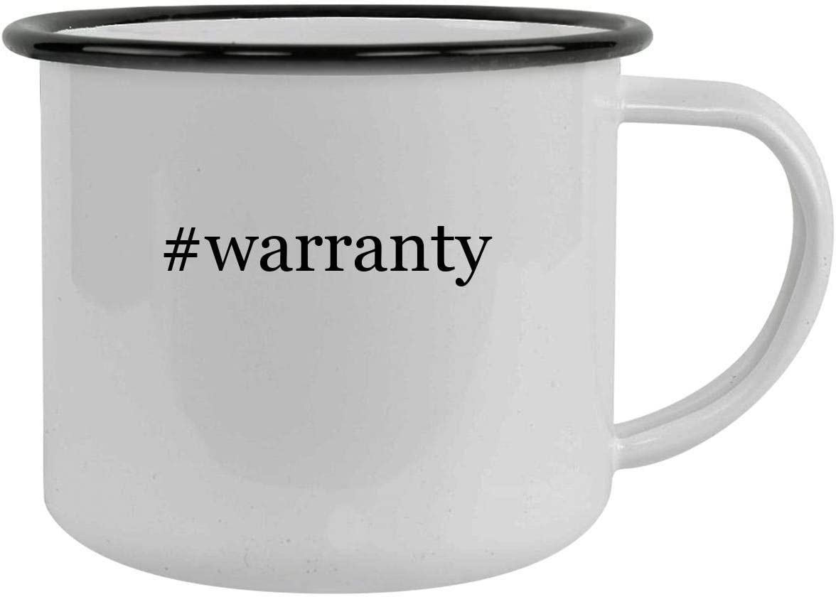 #warranty - 12oz Hashtag Camping Mug Stainless Steel, Black