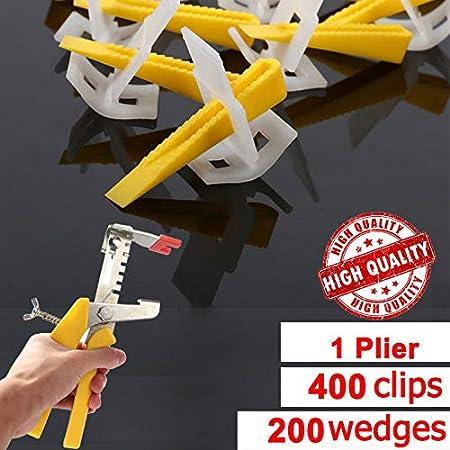 lzndeal Syst/ème de nivellement de carrelage Pince//Clips Coins Kit de Cales despacement en Plastique pour Murs de Plancher