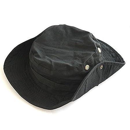 f4f3be6c4b4eb Gespout Sombreros Gorras para Mujer Hombre Paño Protección Solar Viaje  Playa Sol Verano Pescar Senderismo Bohemia Estilo 1pcs Negro 60   13cm   Amazon.es  ...