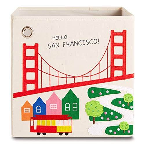 kaikai & ash Storage Bin, Canvas Fabric Toy Box Cube, Kids - San Francisco (Best Interior Designers San Francisco)