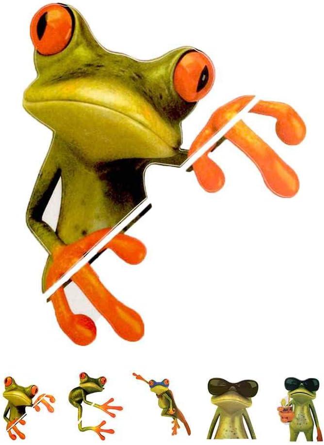 Bobury Universal Car Sticker Peep Grenouille 3D dr/ôle Autocollants de Camion de Voiture st/ér/éo Grenouille Fen/être Decal Wrap D/écor