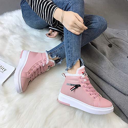 Botas Pink Terciopelo De Tubo Nieve Invierno Algodón Corto Gruesas Antideslizantes Para Zapatos Mujer Y A1Awq