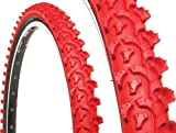 "Image of KENDA TIRE MAXX (K-850) Knobby 26"" x 1.95"" Wire Bead Red/Black."