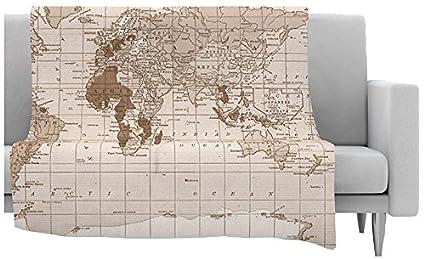 Amazon kess inhouse catherine holcombe emerald world fleece kess inhouse catherine holcombe quotemerald worldquot fleece throw blanket 60 by 50 gumiabroncs Choice Image