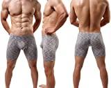 Men's Long Leg Underwear Sexy Boxer Briefs with