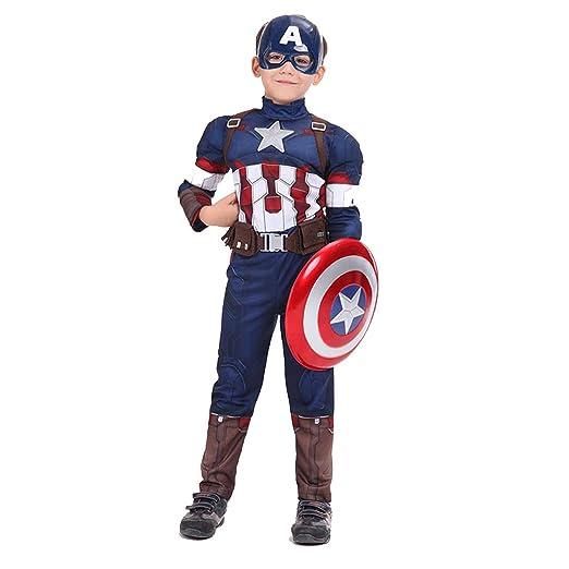 Cosplay Capitán América Disfraz Ropa para Niños Conjunto De Ropa ...