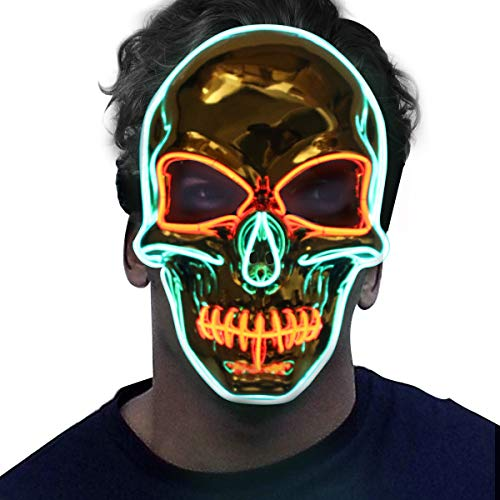 Skull Mask - Halloween LED Light Up Purge