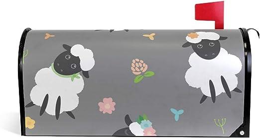 ALARGE Cubierta magnética para buzón de alargen, Bonita Caja de cartón con diseño de ovejas de Animales: Amazon.es: Jardín