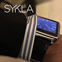 SYKLA M1 (Model One) - The Elegant Smart Watch (Silver Metal with Premium Black Snake Skin)
