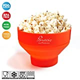 Premium Collapsible Pop Corn Popper Bowl - Microwave Hot Air Silicone Popcorn Maker - Easy to Use & No Oil Needed - Prepare Up To 8 Cups Of Healthy Pop Corn In Mere Minutes - BPA Free & FDA Approved