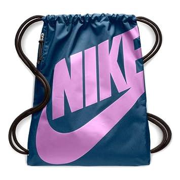 1fdb53f756 Nike Gym-Sack Heritage Sac de Sport Mixte Adulte, Blue Force/Black ...