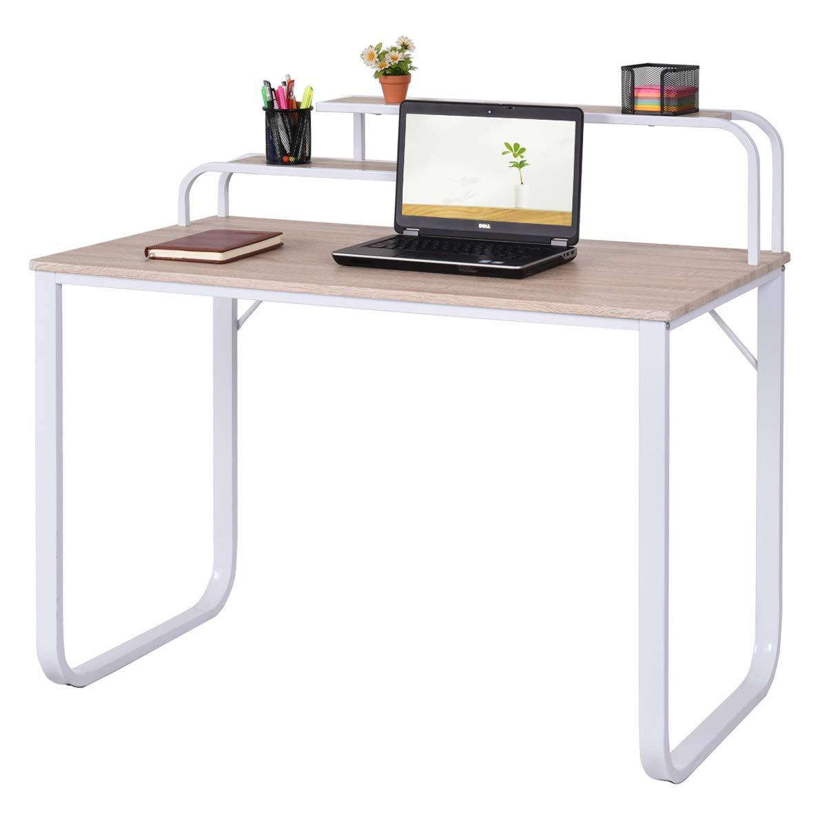 Amazoncom Tangkula Computer Desk Laptop Writing Desk Student Study