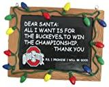 NCAA Ohio State Buckeyes Resin Chalkboard Sign Ornament, Red, One Size