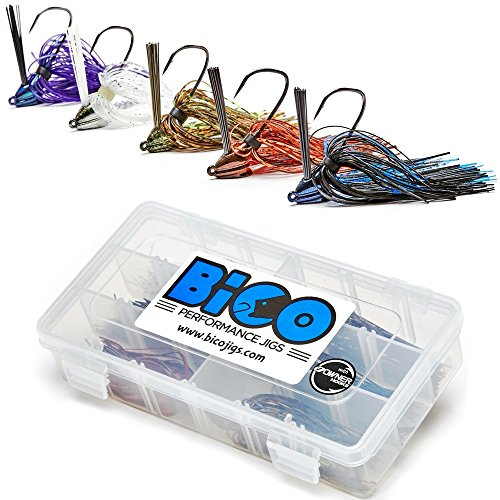 BiCO Jigs Lead Free Bass Jig Set (12 Piece) - Lead Jig