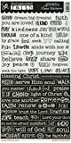 Adorn-It Documented Faith Clear Stickers 6-inch x 12-inch Word Strip, Acrylic, Multicolour by Adornit