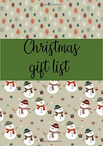 christmas gift list notebook to make your christmas list gifts you are going to purchase for everyone 7 x10 110 line pages alley magraw