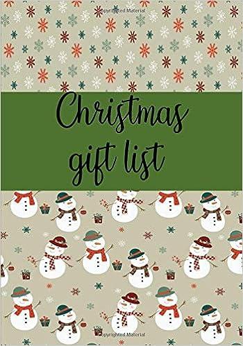 christmas gift list notebook to make your christmas list gifts you