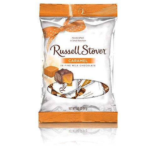 (Russell Stover Milk Chocolate Caramel Peg Bag, 2.95 Ounce)