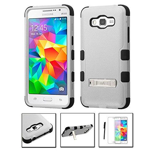Shockproof Hybrid TPU Case for Samsung Galaxy Grand Prime (Black/Grey) - 5