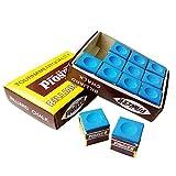 Fancyus 12pcs Blue Pioneer Billiard Chalk