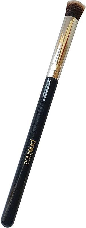 Mini Precision Flat Top Kabuki Brush - Mypreface Synthetic Small Flat Top Kabuki Makeup Brush Best for Acne and Undereye Blending for Maximum Coverage (Black)