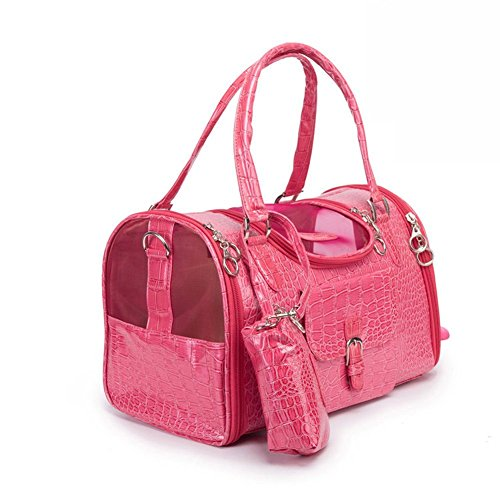 BETOP-HOUSE-Pink-Fashion-Dog-Carrier-PU-Leather-Dog-Handbag-Dog-Purse-Cat-Tote-Bag-Pet-Cat-Dog-Hiking-Bag-Small-134x87x79