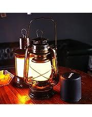 LANMOU Vintage Storm Lantern Lantern Trådlös bordslampa uppladdningsbar, dimbar LED stormlampa bordslampa med laddare, klassiskt utomhus nattlampa för trädgård, uteplats, brons,Warm white light