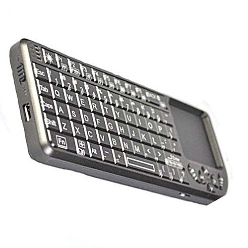 iClever 2.4G Mini Wireless Keyboard with Touchpad 90-degree